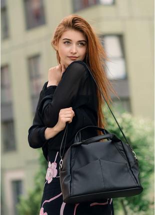Жіноча спортивна сумка sambag vogue bqs чорний, 90123001