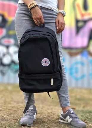 🖤converse all star backpack black🖤 рюкзак конверс чорный 16 литров