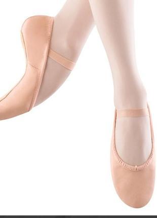 Кожаные чешки балетки bloch