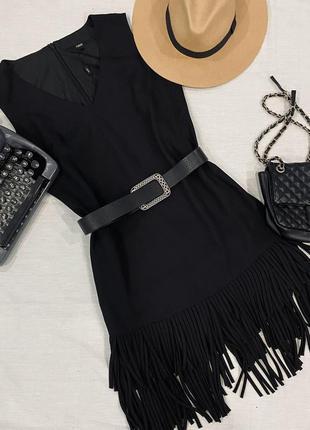 Платье с бахрамой s-m