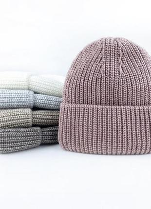 Тёплая зимняя шапка женская
