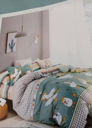 Двусторонний комплект постельного белья, комплект постільної білизни