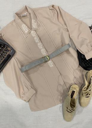 Винтажная блуза by silken ladder s-m
