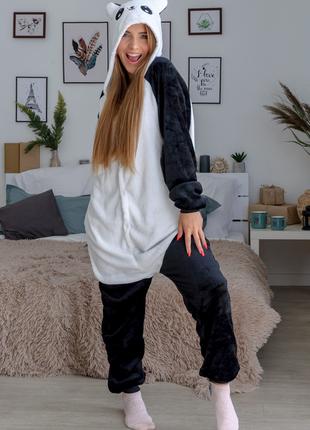 Пижама кигуруми весёлая панда взрослая размер s m l xl