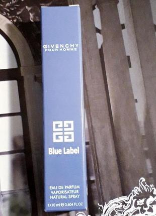 Blue label парфюм миниатюра10мл, мужские духи, парфюм, туалетная вода