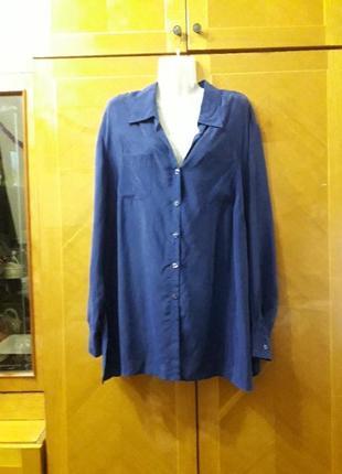 M&s р.22  100% купро блуза рубашка