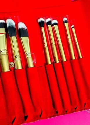 Sale!!! набор кистей для макияжа luxie glitter and gold brush set, 8 кистей