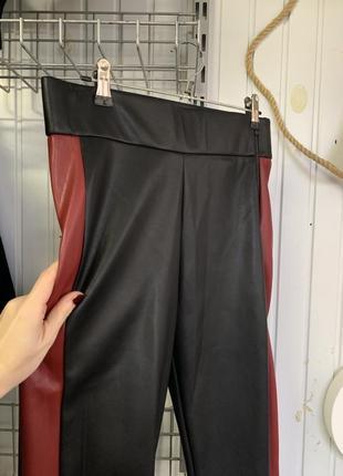 Новые кожаные лосины zara