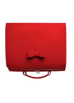 Большая красная велюровая косметичка estee lauder, оригинал сша