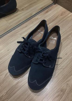 Оксфорды лоферы туфли на шнурка clarks