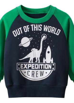 27 kids свитшот для мальчика утепленный expedition 56980