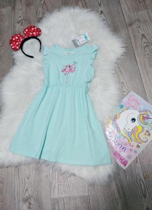 Лёгкое хб летнее платье сарафан для девочки на девочку фламинго