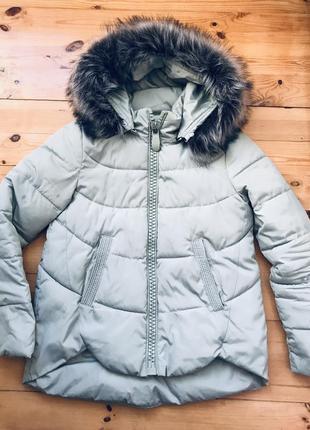 Очень стильная зимняя зимова куртка зефирка