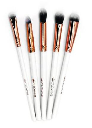 🔥sale! набор кистей для макияжа глаз crown - all eyes on you 5-piece luxe brush set