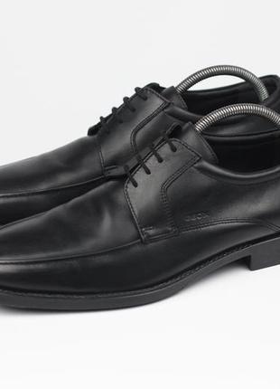 Фирменные кожаные туфли в стиле clarks lloyd
