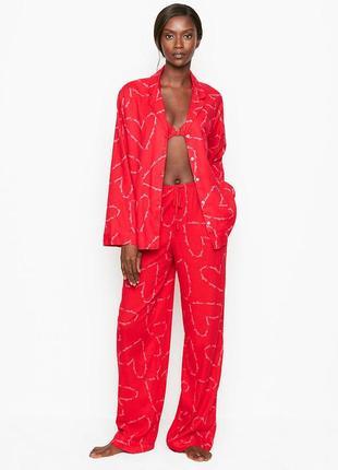 Женская фланелевая пижама victorias secret оригинал виктория сикрет