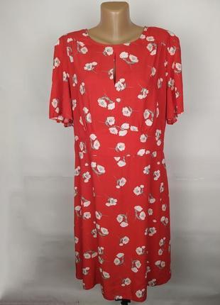 Платье натуральное модное в цветы большой размер primark uk 20/48/3xl