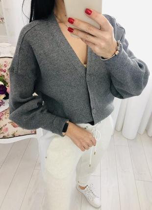 Zara кофта серая новая на пуговицах