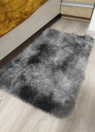 Меховой,коврик травка с антискользящим покрытием. 80х50см.ворс 3 см