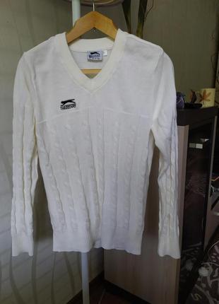 Пуловер джемпер,100% хлопок slazengen.