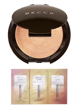 Набор хайлайтеров becca skin perfector champagne pop и ignite passion creativity strength