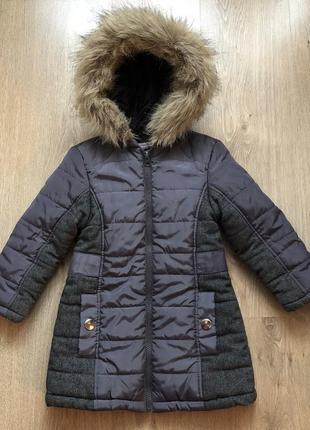 Стильная куртка-пальто от primark на рост 104 в идеале