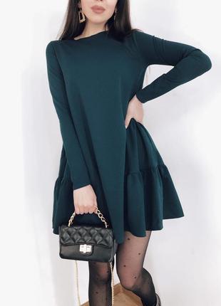 Короткое платье с карманами
