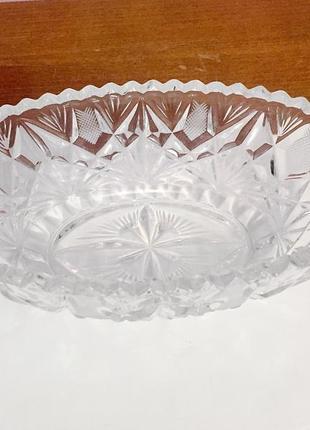 Хрустальный салатник, ваза