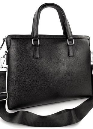 Кожаная сумка портфель для ноутбука, офиса, а4, документов
