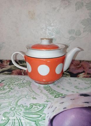Заварной керамический чайник времен ссср