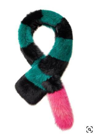 Меховой шарф воротник горжетка sharlotte simone