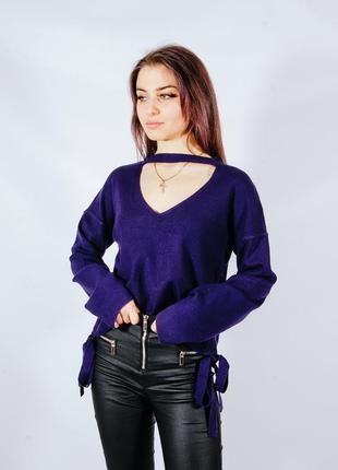 Фиолетовый женский свитер, фіолетовий жіночий светр