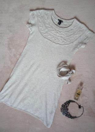 Вязанное платье с поясом h&m