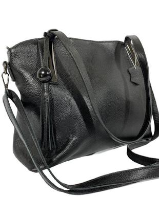 Женская кожаная сумка с длинными ручками,сумка черная на плечо,жіночі сумки