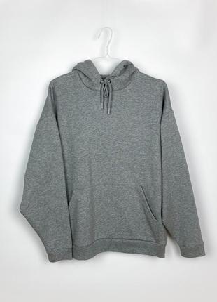 Худи asos design hoodie in grey marl