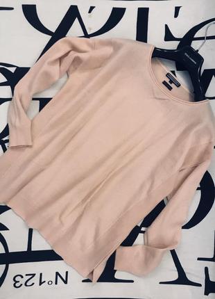 Нежный розовый кашемировый свитерок в актуальном формате😇
