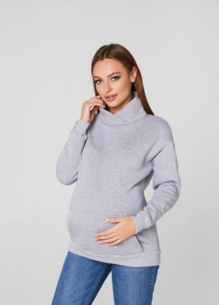 Утепленное худи для беременных