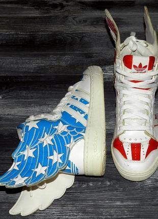 Adidas jeremy scott оригинальные, кожаные, стильные невероятно крутые кроссовки