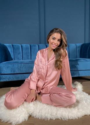 Пижама шелковая