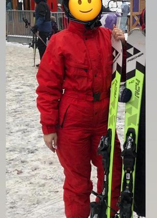 Класний теплий лижний костюм комбінезон