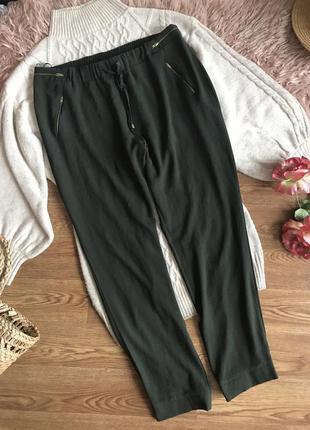 Стильные штаны цвет хаки(16р)