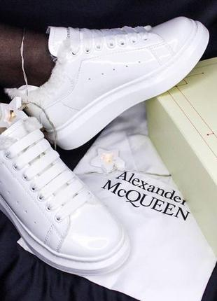 Женские mcqueen white gloss fur8 фото