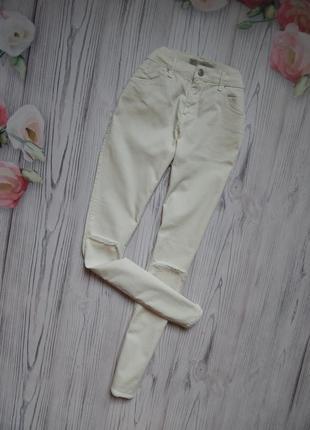 🌿стильные, женские джинсы, штаны с дырками от topshop. размер l🌿