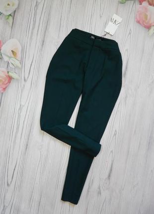 🌿брендовые укороченные брюки от zara. размер m🌿