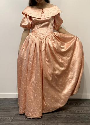 Плаття святкове пишне бальне, платье бальное персиковое, hand made, карнавал, винтаж