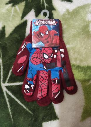 Перчатки человек паук ядисней