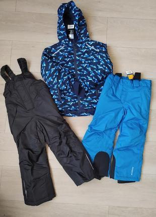 Зимний, лыжный, костюм, комплект, куртка + полукомбинезон, штаны, германия