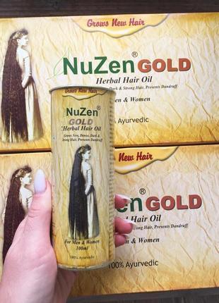 Натуральное масло для роста волос  nuzen gold