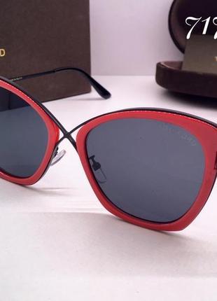 Tom ford очки женские солнцезащитные  красная оправа