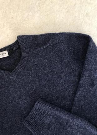 Синий шерстяной свитер/пуловер